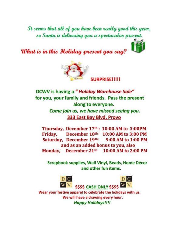 DCWV Sale December 15